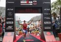 FRANKFURT, GERMANY - JULY 03: Katja Konschak of Germany celebrates her second place after competing in the Ironman European Championships on July 03, 2016 in Frankfurt, Germany (Photo by Joern Pollex/Getty Images for Ironman)