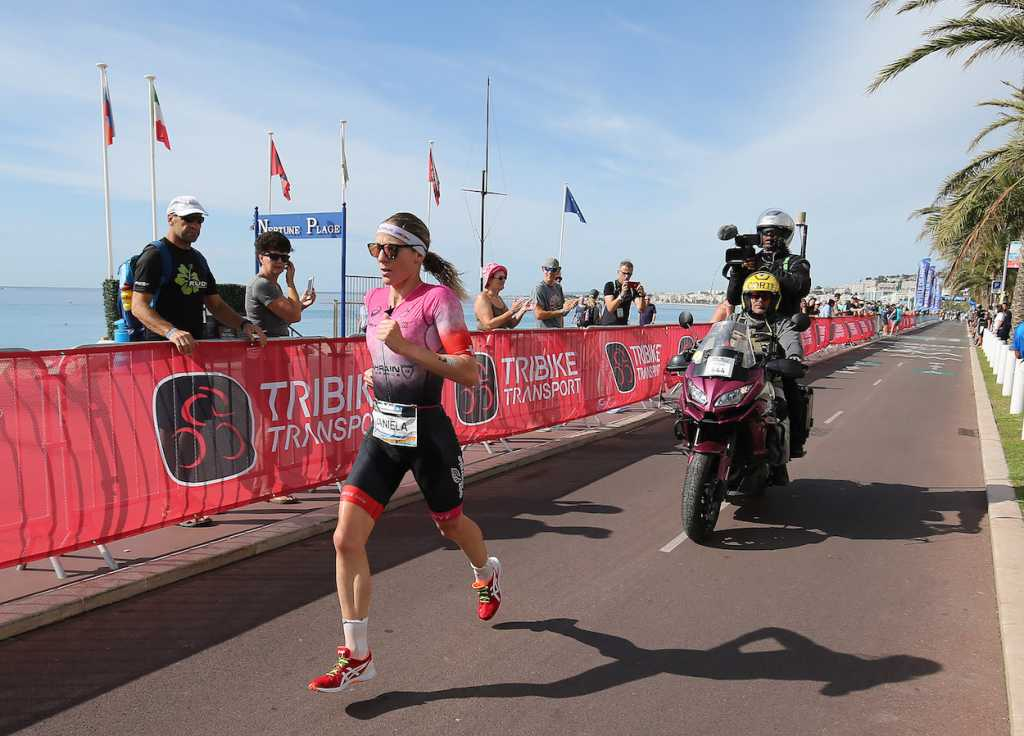 NICE, FRANCE - SEPTEMBER 07: Daniela Ryf of Switzerland competes in the Ironman 70.3 World Championship Women's race on September 7, 2019 in Nice, France. (Photo by Nigel Roddis/Getty Images for IRONMAN)