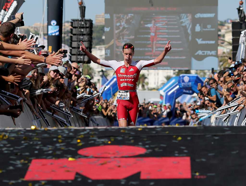 NICE, FRANCE - SEPTEMBER 08:   Alistair Brownlee of Britain reacts after finishing 2nd at Ironman 70.3 World Championship Men's race on September 8, 2019 in Nice, France. (Photo by Nigel Roddis/Getty Images for IRONMAN)
