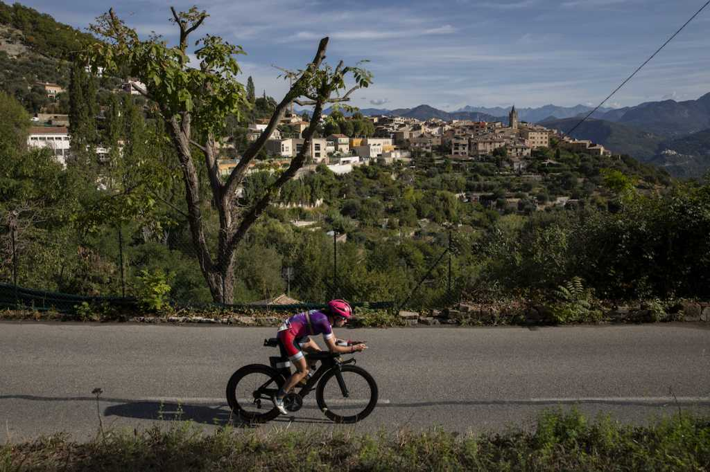 NICE, FRANCE - SEPTEMBER 07: Maddy Pesch of United States competes during the bike leg of IRONMAN 70.3 World Championship Women on September 07, 2019 in Nice, France. (Photo by Pablo Blazquez Dominguez/Getty Images for IRONMAN)