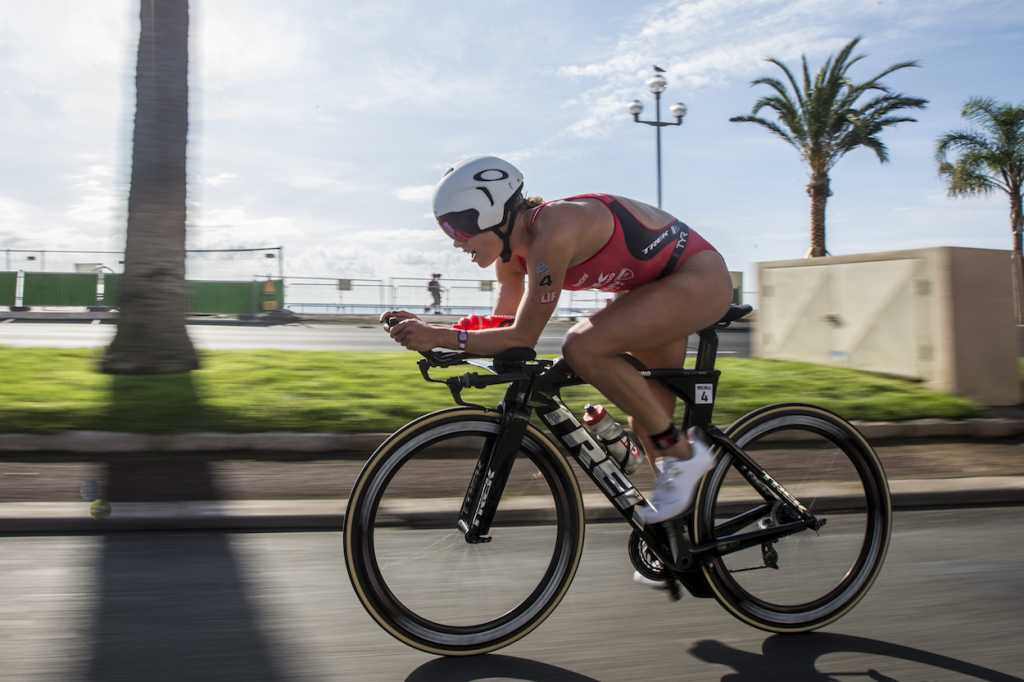 NICE, FRANCE - SEPTEMBER 07: Holly Lawrence of Great Britain competes in the bike leg of the IRONMAN 70.3 World Championship Nice on September 07, 2019 in Nice, France. (Photo by Jan Hetfleisch/Getty Images for IRONMAN)