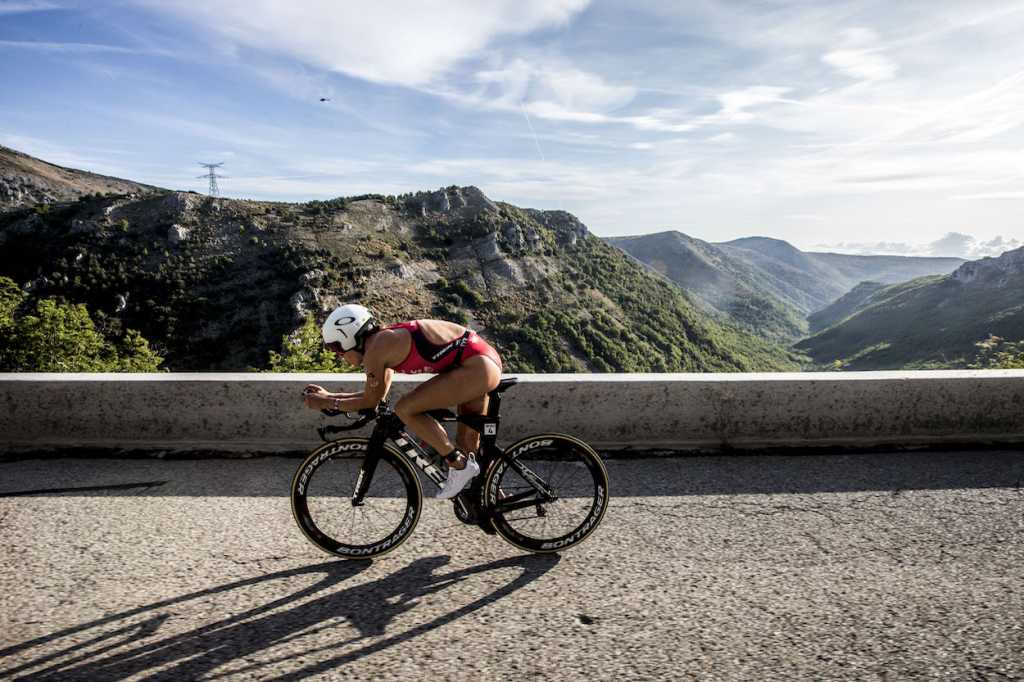 NICE, FRANCE - SEPTEMBER 07: Holly Lawrence competes in the bike leg of the IRONMAN 70.3 World Championship Nice on September 07, 2019 in Nice, France. (Photo by Jan Hetfleisch/Getty Images for IRONMAN)