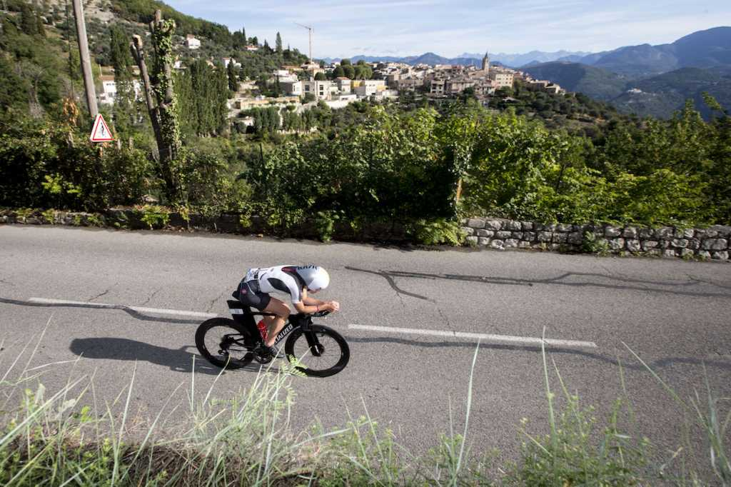 NICE, FRANCE - SEPTEMBER 07: Lucy Chareles-Barclay competes in the bike leg of the IRONMAN 70.3 World Championship Nice on September 07, 2019 in Nice, France. (Photo by Jan Hetfleisch/Getty Images for IRONMAN)
