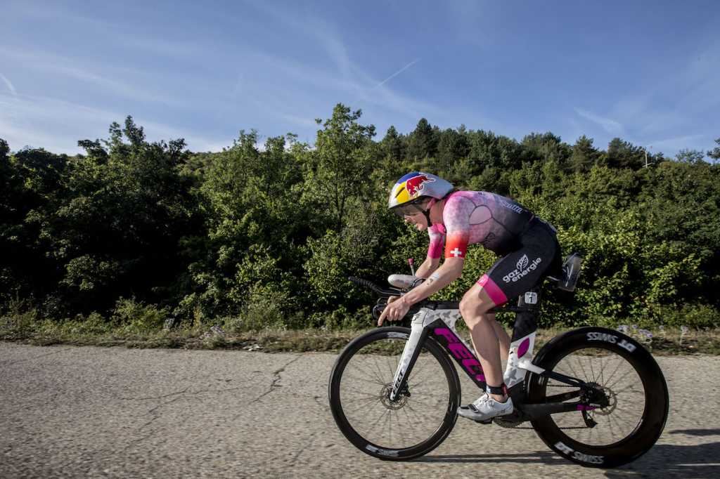 NICE, FRANCE - SEPTEMBER 07: Daniela Ryf competes in the bike leg of the IRONMAN 70.3 World Championship Nice on September 07, 2019 in Nice, France. (Photo by Jan Hetfleisch/Getty Images for IRONMAN)