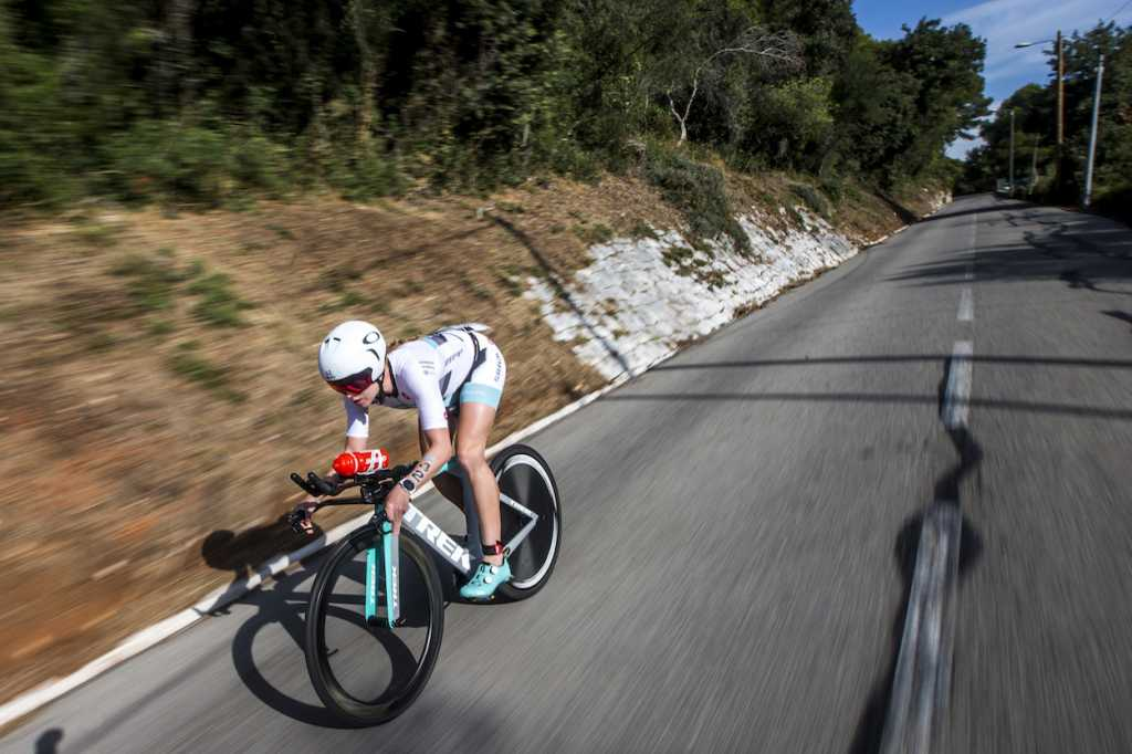 NICE, FRANCE - SEPTEMBER 07: Paula Findlay competes in the bike leg of the IRONMAN 70.3 World Championship Nice on September 07, 2019 in Nice, France. (Photo by Jan Hetfleisch/Getty Images for IRONMAN)