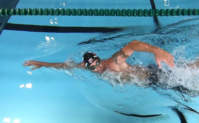 Atmen im Wasser beim Kraulschwimmen