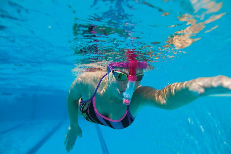 Schwimmtraining mit Schnorchel