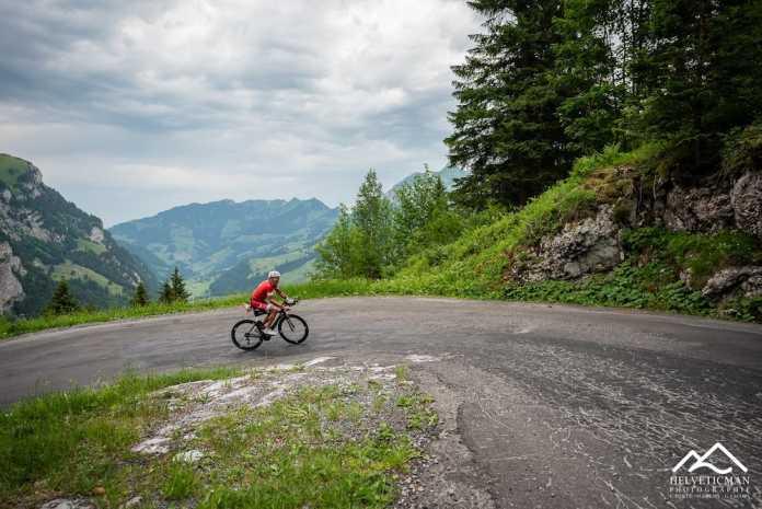 Triathlonrennen Helveticman in der Schweiz