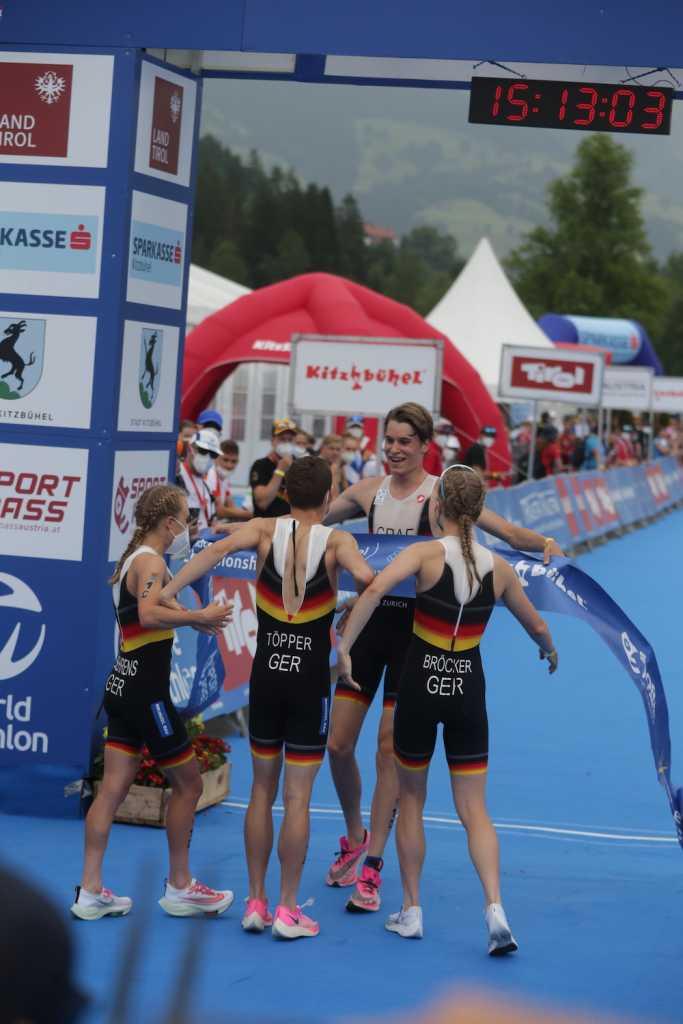 Europameister Mixed Relay Junioren bei der EM-Kitzbühel 2021 (Foto: Armin Schirmaier | tritime-magazin.de)