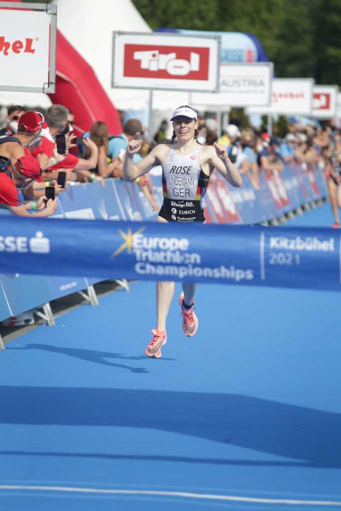 Europameisterin Laura Lindemann bei der EM-Kitzbühel 2021 (Foto: Armin Schirmaier | tritime-magazin.de)